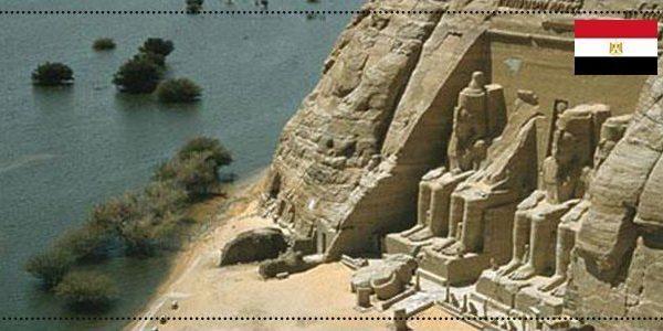 معبد ابو سمبل و النيل